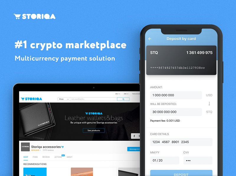 Cryptoshopping on Storiqa: Pay for Goods with Cryptos