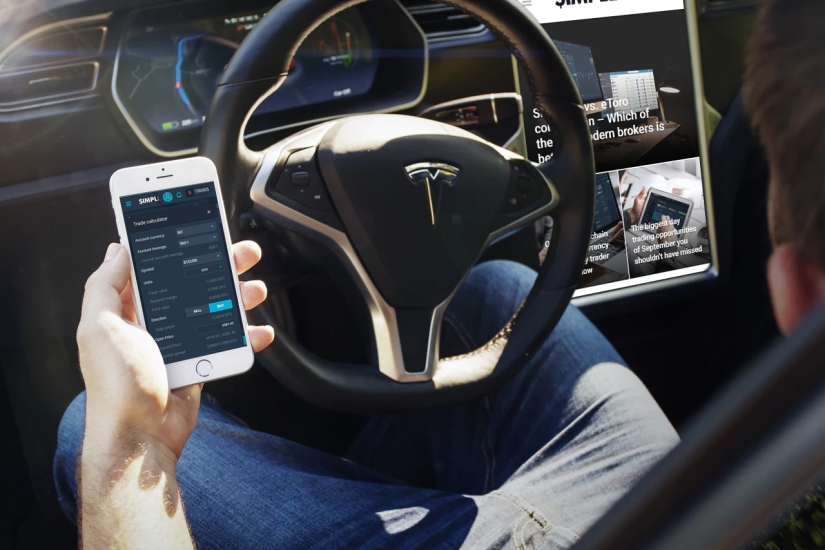 trading simplefx while driving tesla