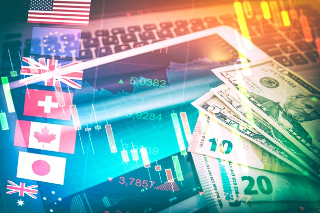 Forex Markets Currency Trading Concept.