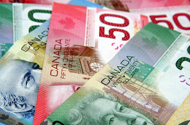 Colorful Canadian Currency