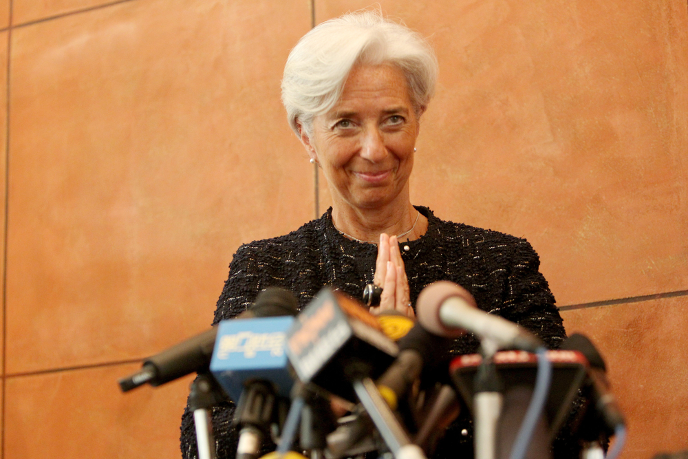 China says IMF race open as Lagarde visits