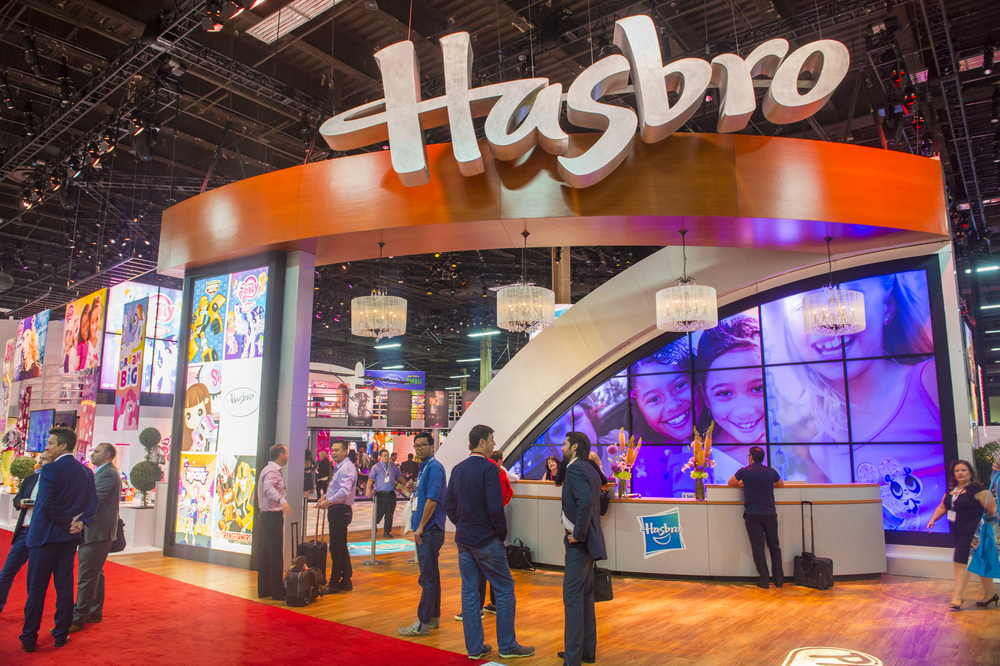 LAS VEGAS - JUNE 17 : The Hasbro booth at the Licensing Expo in Las Vegas , Nevada on June 17 2014. Licensing Expo is the licensing industry's largest annual event