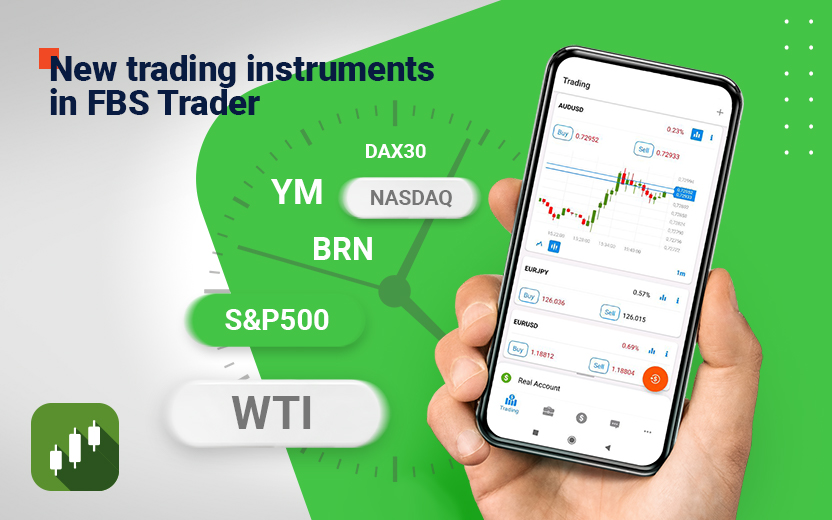 FBS Announces New Trading Instruments in FBS Trader App