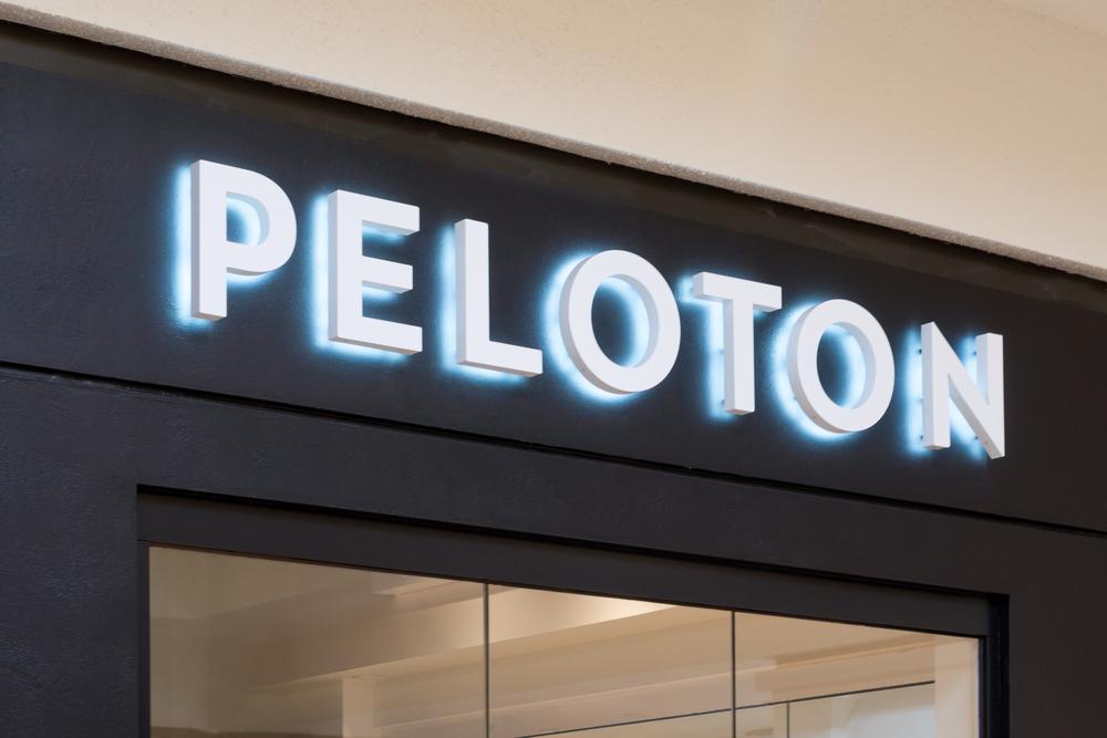 Peleton Retail Exercise Store and Trademark Logo