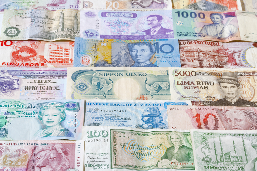 forex collection of various currencies from countries around the world