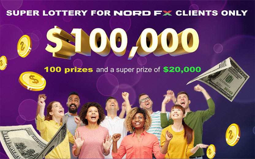Super Lottery: NordFX Gives Away 100,000 USD To Traders