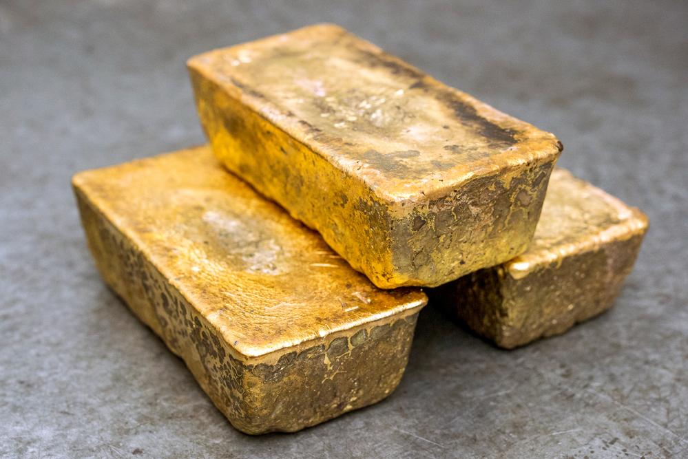 A few golden ingots
