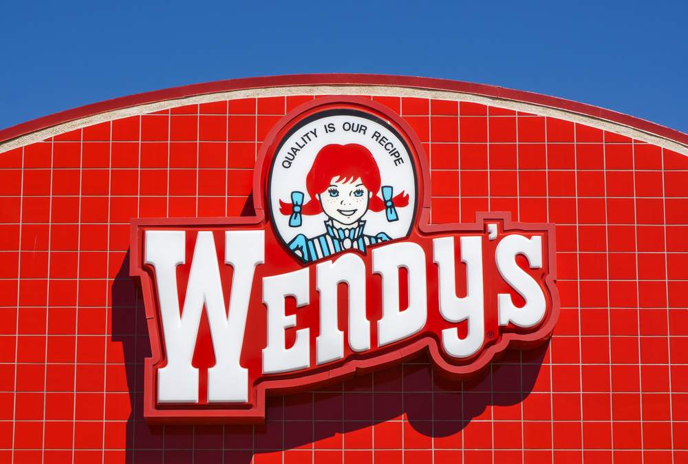 Wendy's Restaurant Exterior and Sign