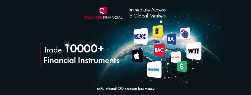 Trade more than 10,000+ products in 15 global markets with SquaredFinancial