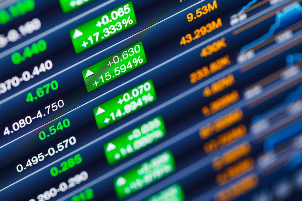 Stock market in the green