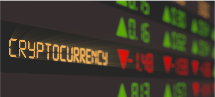 Cryptocurrency values on display