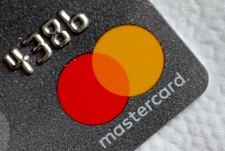 Illustration photo of a Mastercard logo on a