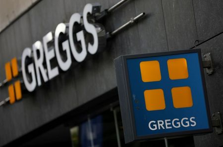 Signage and logo pictured outside a Greggs store