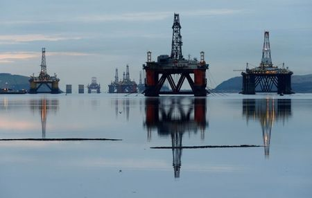 Drilling rigs are parked up in the Cromarty