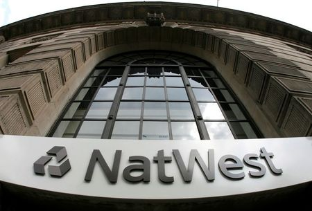 Signage on a branch of NatWest Bank in