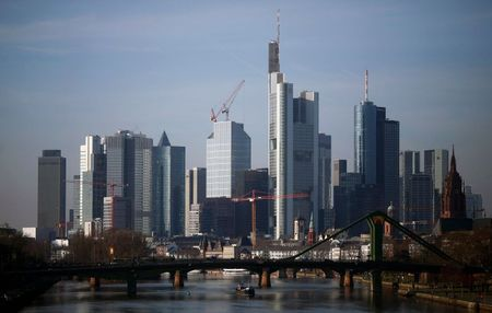 The banking district with the headquarters of Germany's second largest