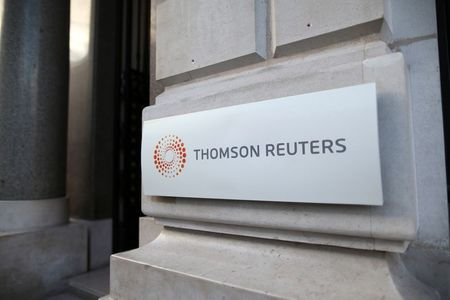 The logo of Thomson Reuters is pictured at