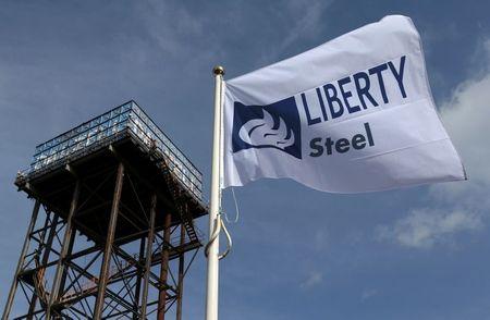 The Liberty Steel flag flies over the steel
