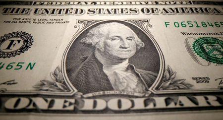 FILE PHOTO: A U.S. Dollar banknote is seen in