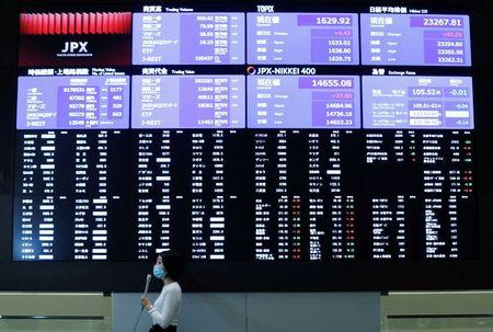 World Stocks Near Record High, U.s. Bond Yields Near 1-month Low