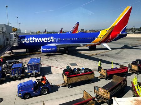 Southwest Airlines Boeing 737 plane is seen at