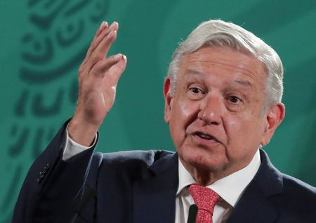 FILE PHOTO: Mexico's President Obrador speaks during a news conference in Mexico
