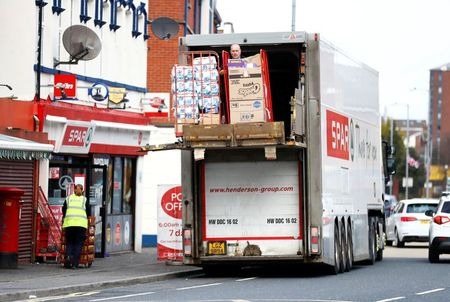 A delivery is made to a SPAR supermarket in Belfast