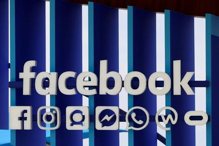 FILE PHOTO: A Facebook panel is seen during the Cannes