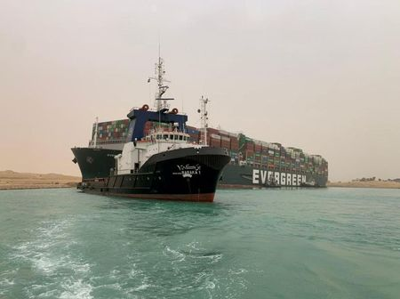 Ships Carrying Commodities Stuck After Vessel Grounding in Suez Canal