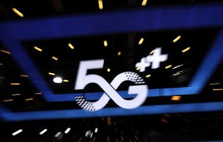 Anúncio da tecnologia de 5G em evento de telecomunicações.