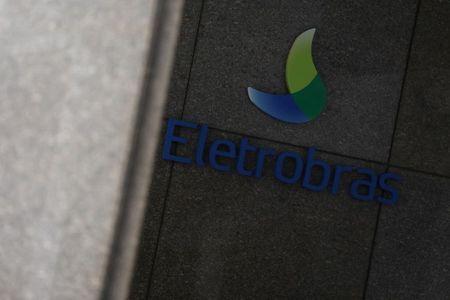 Logo da Eletrobras em instalações da companhia no Rio de