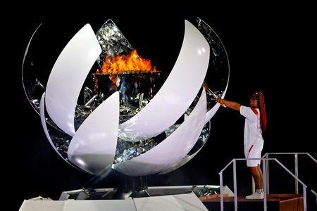Naomi Osaka acende a pira olímpica dos Jogos de Tóquio