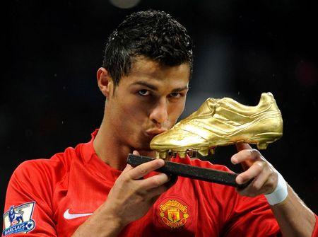 Cristiano Ronaldo durante primeira passagem pelo Manchester United