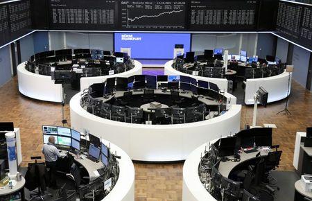الأسهم الأوروبية على أعتاب تسجيل أفضل أسبوع في سبعة أشهر